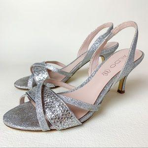 Aldo dainty silver sparkly kitten heels